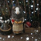Куклы и игрушки ручной работы. Ярмарка Мастеров - ручная работа Конфетки-бараночки. Мышь из войлока.. Handmade.