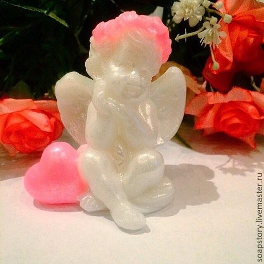 """Мыло ручной работы. Ярмарка Мастеров - ручная работа. Купить Мыло """" Ангелочек"""". Handmade. Розовый, день влюбленных, амурчик"""