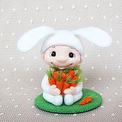 Куклы и игрушки ручной работы. Ярмарка Мастеров - ручная работа Мальчик - зайчик. Handmade.
