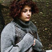 """Одежда ручной работы. Ярмарка Мастеров - ручная работа Валяный свитер """"Vintage silver"""". Handmade."""
