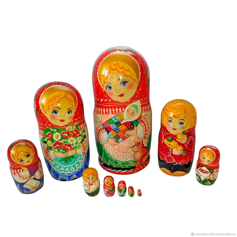 Матрешка авторская расписная Девушка с ребеночком, Матрешки, Москва,  Фото №1