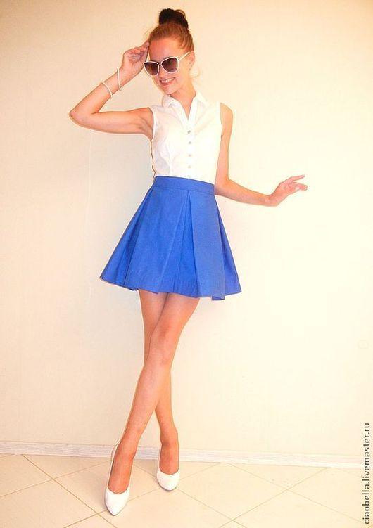 """Юбки ручной работы. Ярмарка Мастеров - ручная работа. Купить Пышная юбочка """"La luna"""". Handmade. Синий, синяя юбка"""