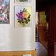 """Картины цветов ручной работы. Картина лентами """"Lovely Gloria"""". Tania  Sova . Картины лентами.. Ярмарка Мастеров. Картина в спальню"""