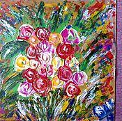 Картины и панно handmade. Livemaster - original item Bouquet of roses.. Handmade.