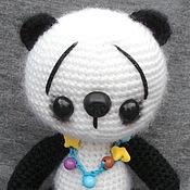 Мягкие игрушки ручной работы. Ярмарка Мастеров - ручная работа вязаная мишка- пандочка  Падме. Handmade.