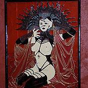 Картины и панно ручной работы. Ярмарка Мастеров - ручная работа Красно-черная. Handmade.