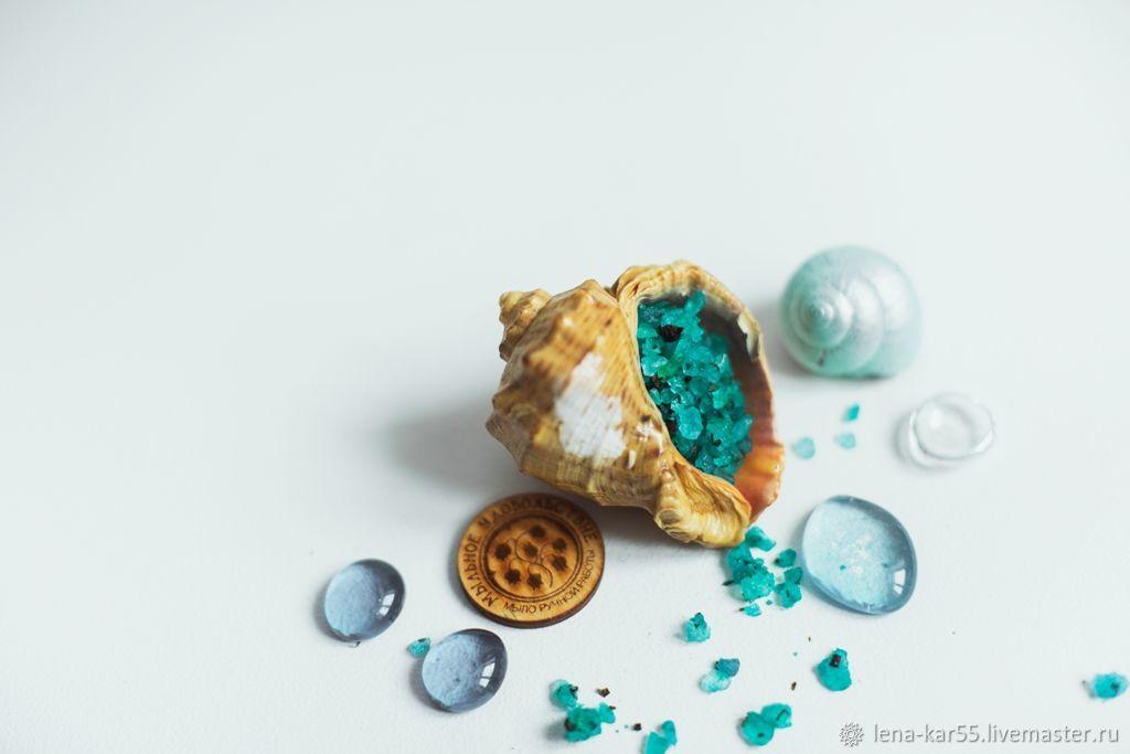 Соль для ванны Морская с морской солью натуральная голубой, Соль для ванны, Новые Бурасы,  Фото №1