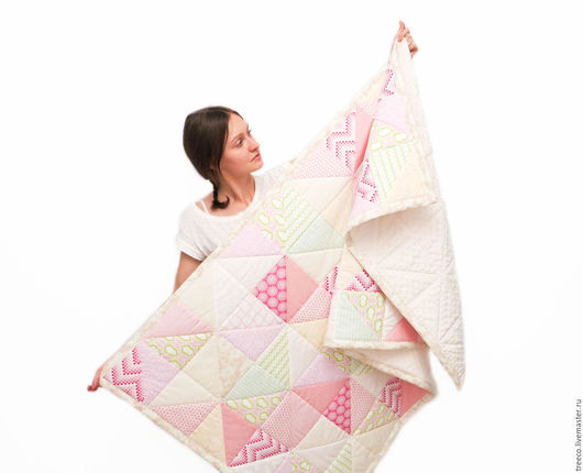 Текстиль, ковры ручной работы. Ярмарка Мастеров - ручная работа. Купить Лоскутное одеяло и 2 подушки для девочки. Handmade.