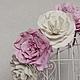 """Свадебные украшения ручной работы. Ярмарка Мастеров - ручная работа. Купить Венок """"Зефирная нежность"""". Handmade. Бледно-розовый"""