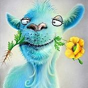 Картины и панно handmade. Livemaster - original item Photo pictures - Love goat. Handmade.