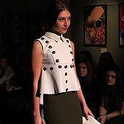 Одежда ручной работы. Ярмарка Мастеров - ручная работа стильная блузка  в стиле милитари. Handmade.