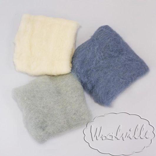 """Валяние ручной работы. Ярмарка Мастеров - ручная работа. Купить Набор шерсти """"Оттенки серого"""" 60 гр (набор шерсти для валяния). Handmade."""