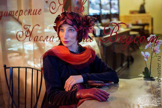 """Шляпы ручной работы. Ярмарка Мастеров - ручная работа. Купить дизайнерская шляпка из фетра """"Мэри"""". Handmade. Шляпка, ретро"""