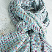 Аксессуары handmade. Livemaster - original item Mint female scarf in a cage