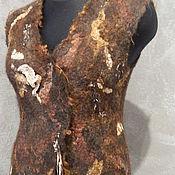 """Одежда ручной работы. Ярмарка Мастеров - ручная работа Авторский валяный жилет """"Tiramisu"""". Handmade."""