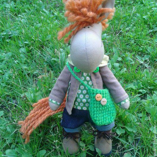 Куклы Тильды ручной работы. Ярмарка Мастеров - ручная работа. Купить лошадка Тильда. Handmade. Разноцветный, игрушка в подарок