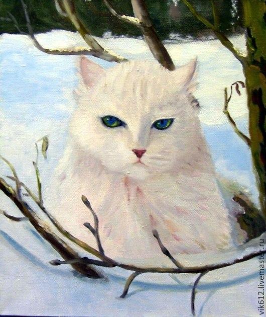 Животные ручной работы. Ярмарка Мастеров - ручная работа. Купить мартовский кот. Handmade. Картина, картина в детскую, холст