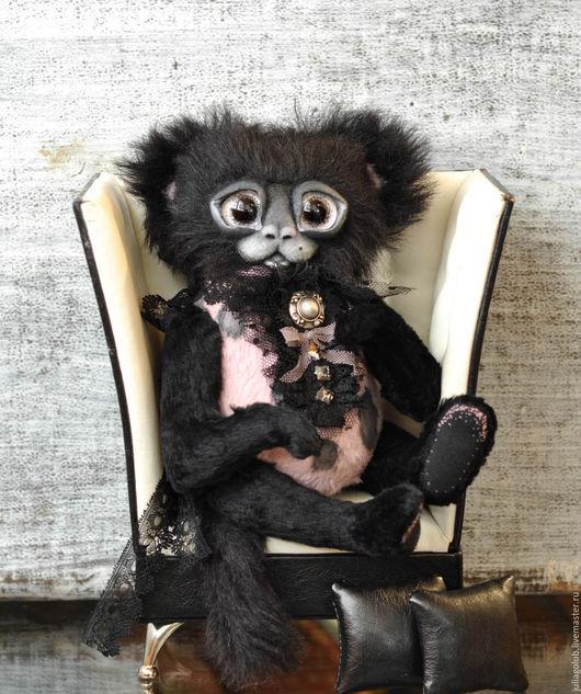 Мишки Тедди ручной работы. Ярмарка Мастеров - ручная работа. Купить Миракс. Handmade. Розовый, черный кот, кристаллы сваровски