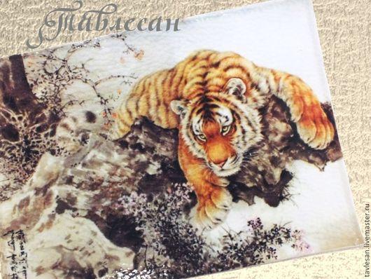 """Обложки ручной работы. Ярмарка Мастеров - ручная работа. Купить Обложка для паспорта """"Тигр, тигр..."""" кожа. Handmade."""