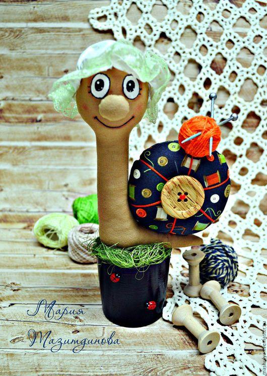 Игрушки животные, ручной работы. Ярмарка Мастеров - ручная работа. Купить Улитка текстильная в горшочке. Handmade. Улитка, улитка текстильная