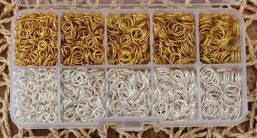 Для украшений ручной работы. Ярмарка Мастеров - ручная работа. Купить Кольца от 5 до 9 мм. Handmade. Серебряный, золото