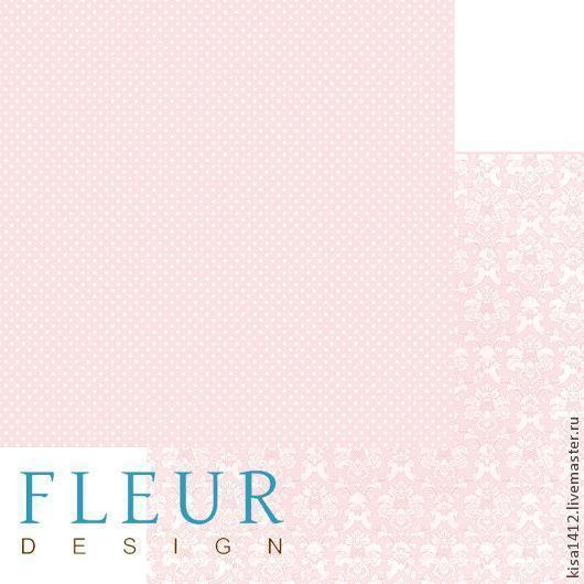 1000322   Лист бумаги для скрапбукинга `Ванильно розовый` , коллекция `Шебби Шик Базовая`, 30 на 30 плотность 190 гр / 10 листов в упаковке