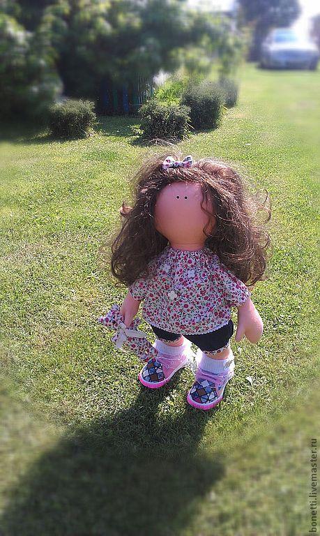 Человечки ручной работы. Ярмарка Мастеров - ручная работа. Купить Авторская текстильная кукла. Handmade. Бежевый, авторская кукла