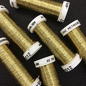 Нитки ручной работы. Ярмарка Мастеров - ручная работа Metallics Bourdon, цвет 6012, металлизированные нити Au Ver a Soie. Handmade.