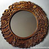 "Для дома и интерьера handmade. Livemaster - original item The mirror in carved frame ""Four Elements"". Handmade."