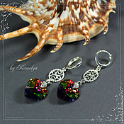 Украшения handmade. Livemaster - original item Earrings with Swarovski crystals