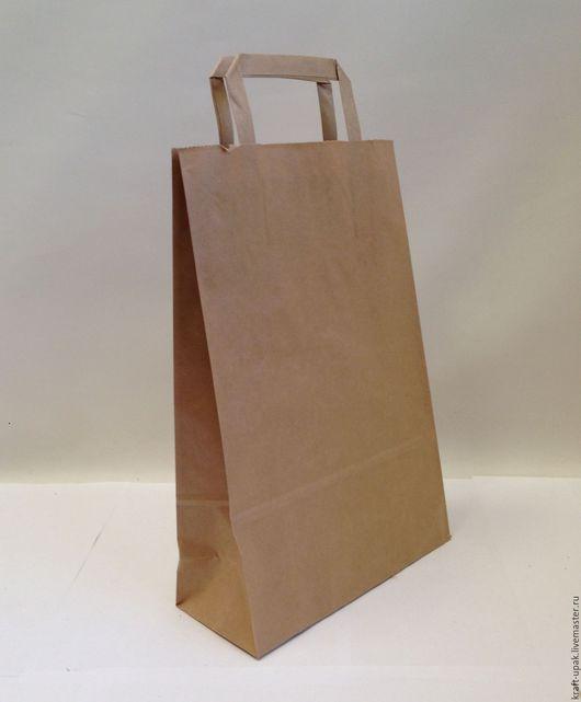 Упаковка ручной работы. Ярмарка Мастеров - ручная работа. Купить Крафтпакет 22х9х33 с плоскими ручками. Handmade. Натуральный, крафт пакет