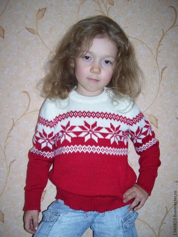 Детские свитера норвежским узором