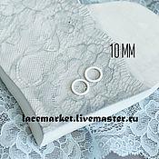 Фурнитура для шитья ручной работы. Ярмарка Мастеров - ручная работа Кольцо белое металл 10 мм. Handmade.