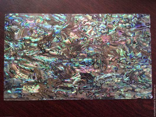 Аппликации, вставки, отделка ручной работы. Ярмарка Мастеров - ручная работа. Купить Пластина 003 перламутровая из галиотиса пауа абалона. Handmade.