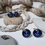 Украшения handmade. Livemaster - original item Kit for two Anchor. Handmade.