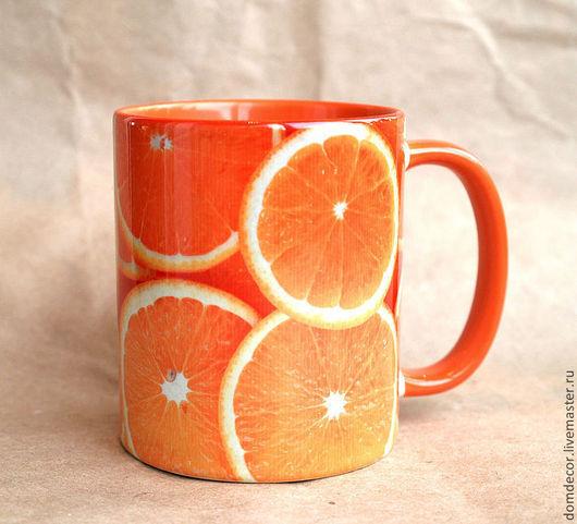 """Кружки и чашки ручной работы. Ярмарка Мастеров - ручная работа. Купить Чашка """"Рыжий апельсин"""". Handmade. Рыжий, чашка, для кухни"""