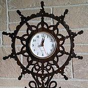 Для дома и интерьера ручной работы. Ярмарка Мастеров - ручная работа Часы штурвал. Handmade.
