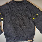 Свитер ручной работы. Ярмарка Мастеров - ручная работа Вязаный свитер - жилет для мальчика. Handmade.