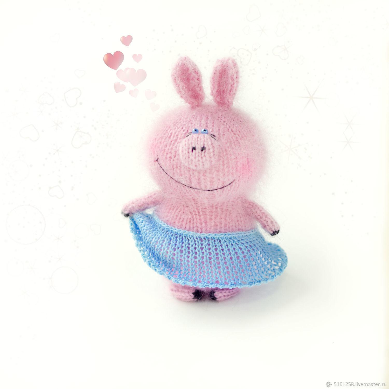 мастер класс свинюша спицы вязаный поросенок игрушка описание мк