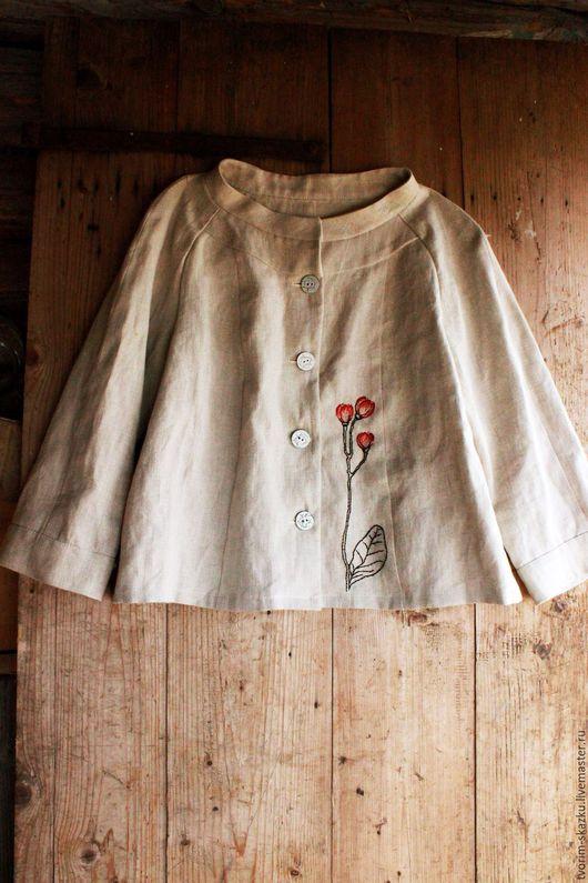 """Пиджаки, жакеты ручной работы. Ярмарка Мастеров - ручная работа. Купить Жакет  """"Botanica experimentalis"""". Handmade. Серый, ботаника, пуговицы"""