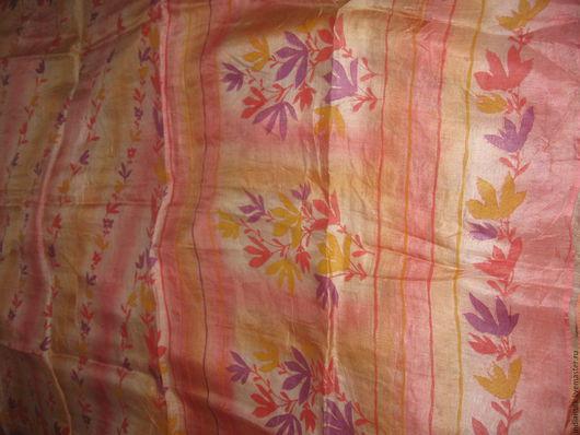 Валяние ручной работы. Ярмарка Мастеров - ручная работа. Купить Красивое винтажное сари из  шелка+хлопок. Handmade. Комбинированный, винтажный шелк