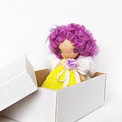 Куклы и игрушки ручной работы. Ярмарка Мастеров - ручная работа Ангел миниатюрная текстильная кукла (10 см). Handmade.