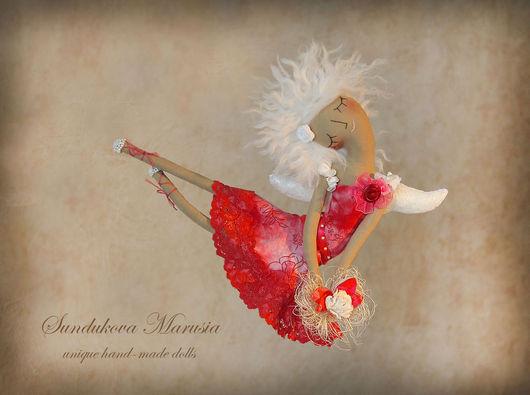 """Ароматизированные куклы ручной работы. Ярмарка Мастеров - ручная работа. Купить """"Ангел ярких красок"""" - авторская кофейная куколка. Handmade."""