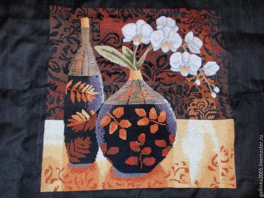Картины цветов ручной работы. Ярмарка Мастеров - ручная работа. Купить Орхидеи от Анкор. Handmade. Разноцветный, картина крестом, орхидея