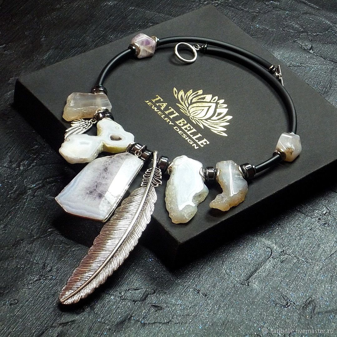 Necklace made of natural stones 'Lightness of Being', Necklace, Moscow,  Фото №1