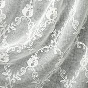 Для дома и интерьера handmade. Livemaster - original item Tulle with embroidery from linen