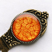 Канцелярские товары handmade. Livemaster - original item Bookmark for books (orange). Handmade.