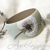 Украшения handmade. Livemaster - original item Wide bracelet made of polymer clay