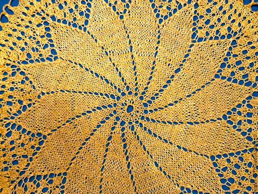 Текстиль, ковры ручной работы. Ярмарка Мастеров - ручная работа. Купить Салфетка №1. Handmade. Желтый, ручная вязка
