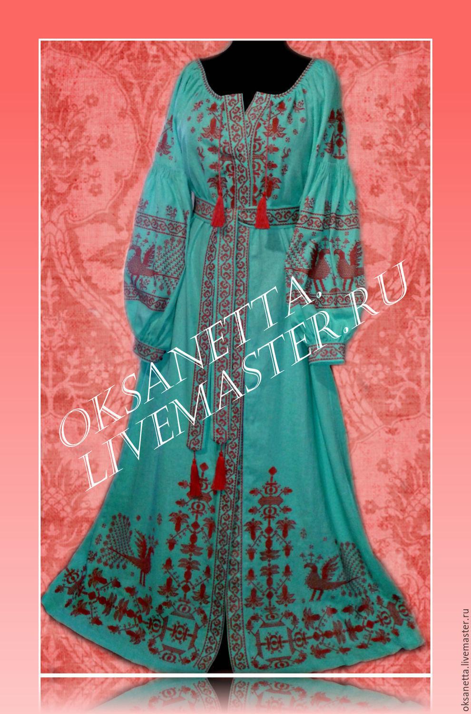 dresses: Dress embroidered linen. Boho Style Bohemian. 2017, Dresses, Zaporozhye,  Фото №1